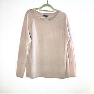 Vince Pale Pink Tan 100% Cashmere Jersey Sweater